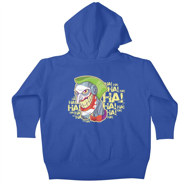 Robot Joker Kids Baby Zip-Up Hoody by leogoncalves's Artist Shop