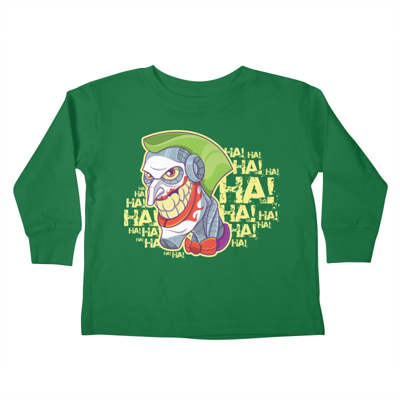 Robot Joker Kids Toddler Longsleeve T-Shirt by leogoncalves's Artist Shop