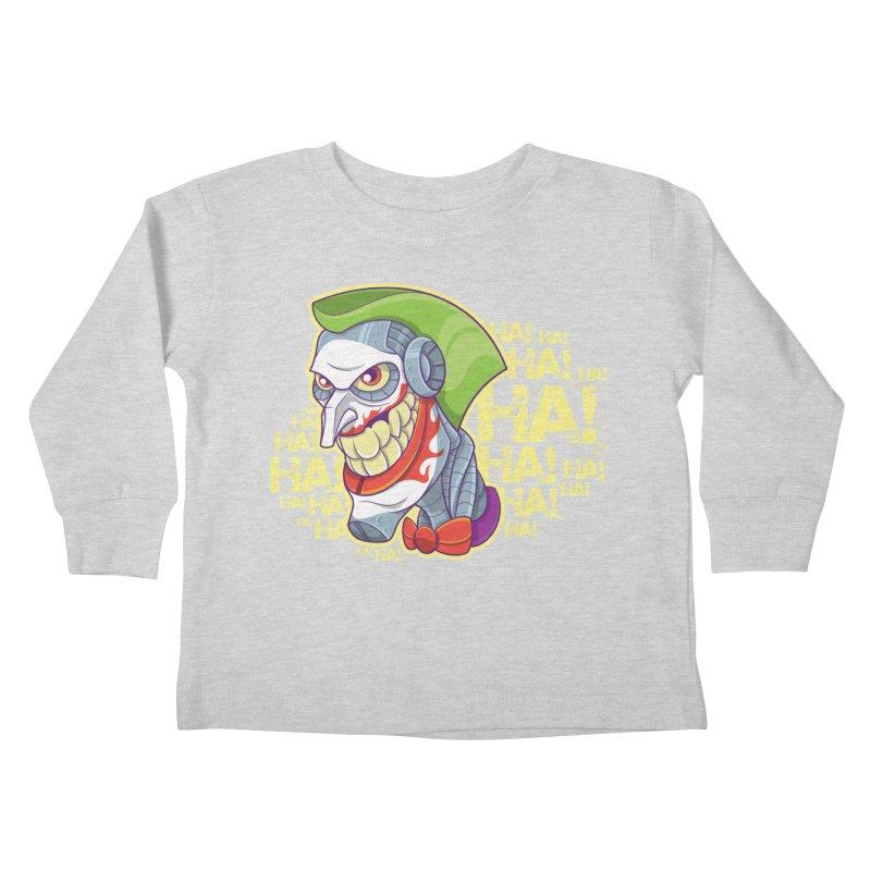 Robot Joker Kids Toddler Longsleeve T-Shirt by leogoncalves's Artist Shop