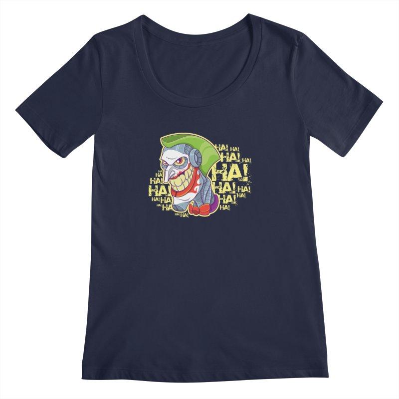 Robot Joker Women's Scoopneck by leogoncalves's Artist Shop