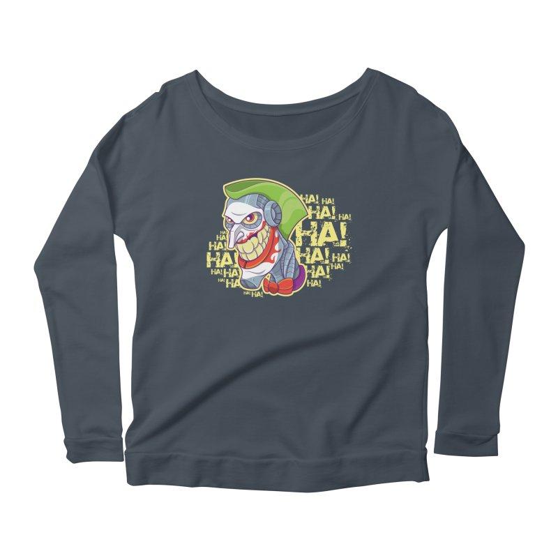Robot Joker Women's Scoop Neck Longsleeve T-Shirt by leogoncalves's Artist Shop
