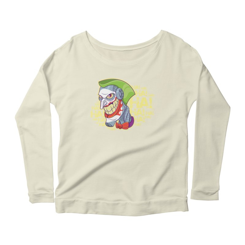 Robot Joker Women's Scoop Neck Longsleeve T-Shirt by leogoncalves's Artist Shop