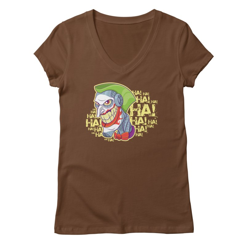 Robot Joker Women's Regular V-Neck by leogoncalves's Artist Shop