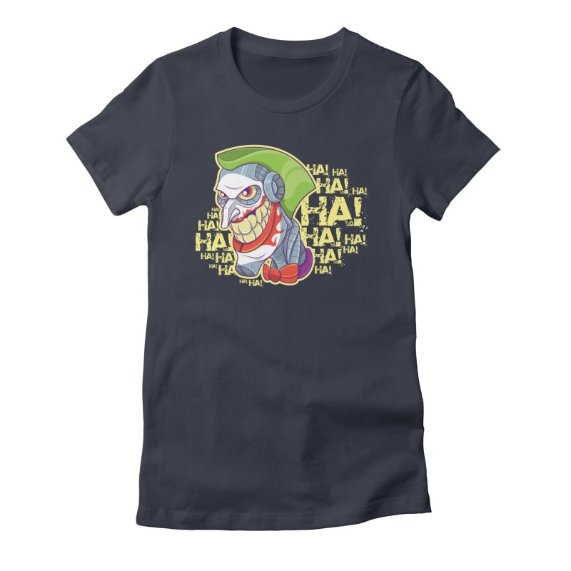 Robot Joker Women's Fitted T-Shirt by leogoncalves's Artist Shop