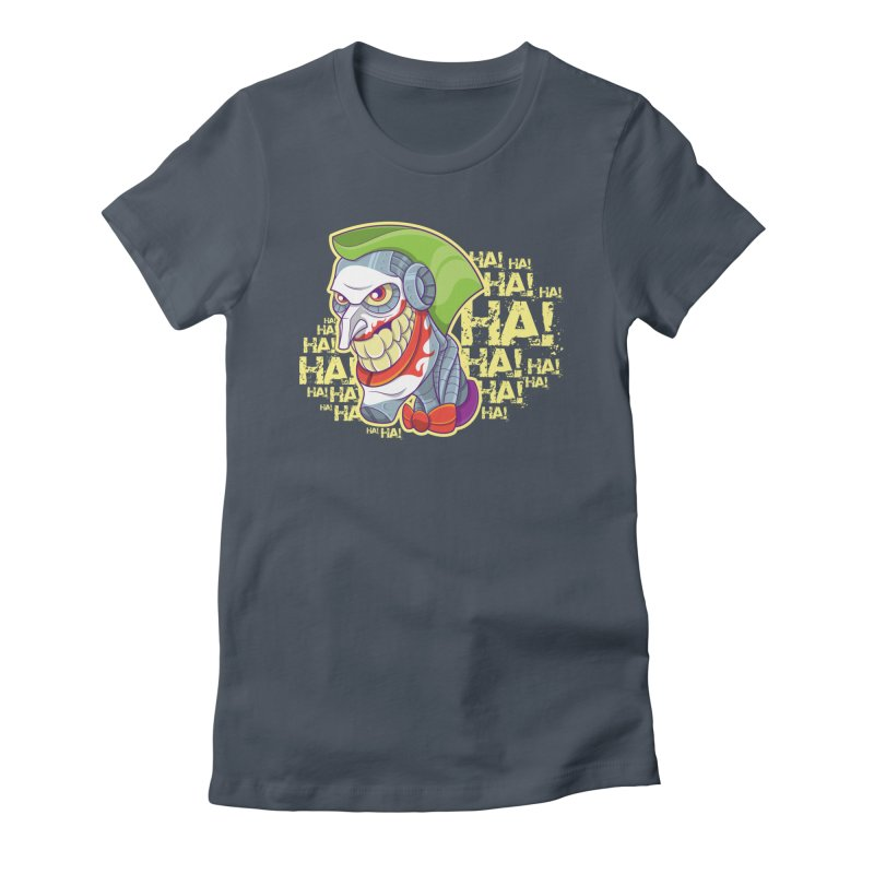 Robot Joker Women's Fitted T-Shirt by leogoncalves's Artist Shop