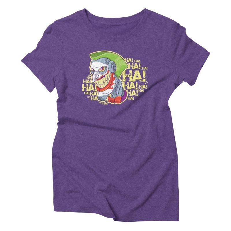 Robot Joker Women's Triblend T-shirt by leogoncalves's Artist Shop