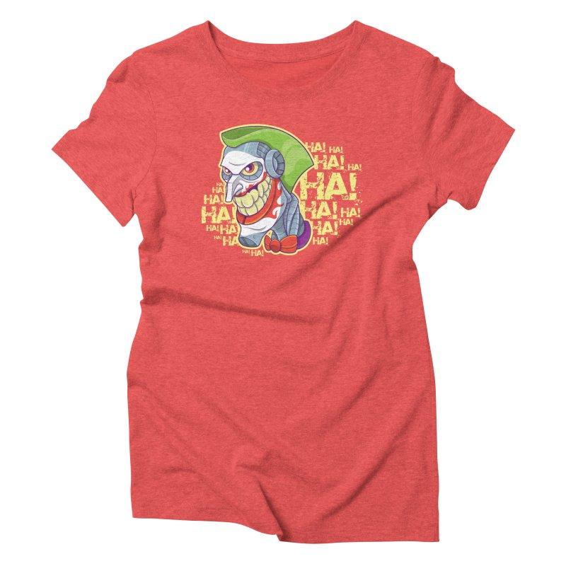 Robot Joker Women's Triblend T-Shirt by leogoncalves's Artist Shop