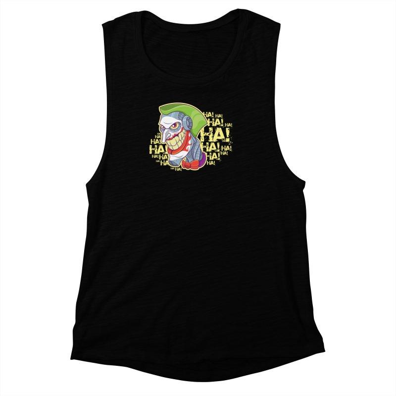 Robot Joker Women's Muscle Tank by leogoncalves's Artist Shop