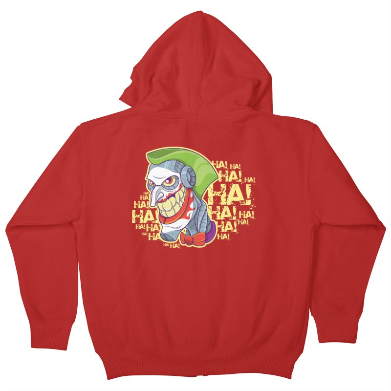 Robot Joker Kids Zip-Up Hoody by leogoncalves's Artist Shop