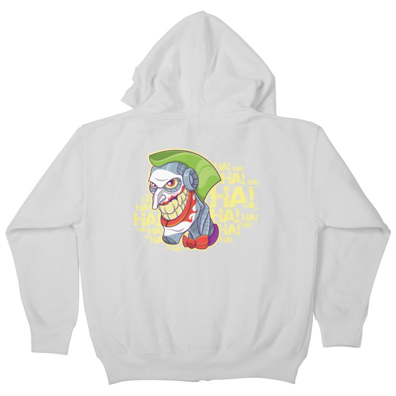 Robot Joker Kids Zip-Up Hoody by leogoncalves's Artist Shop