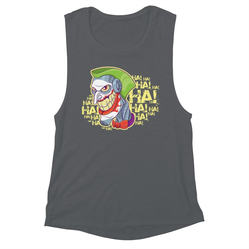 Robot Joker Women's Muscle Tank by leogoncalves's Artist Shop