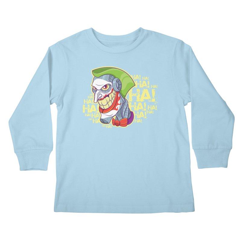 Robot Joker Kids Longsleeve T-Shirt by leogoncalves's Artist Shop