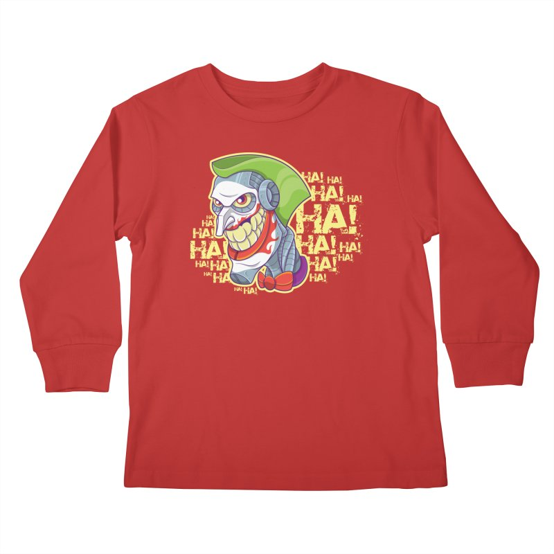 Robot Joker Kids Longsleeve T-Shirt by leogoncalves's Artist Shop