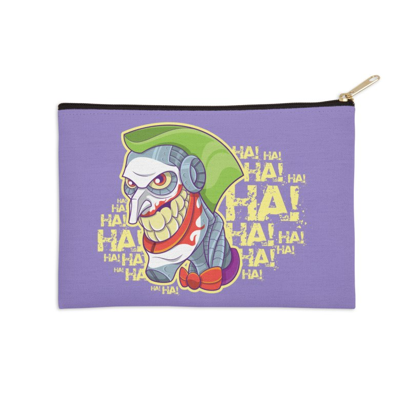 Robot Joker Accessories Zip Pouch by leogoncalves's Artist Shop