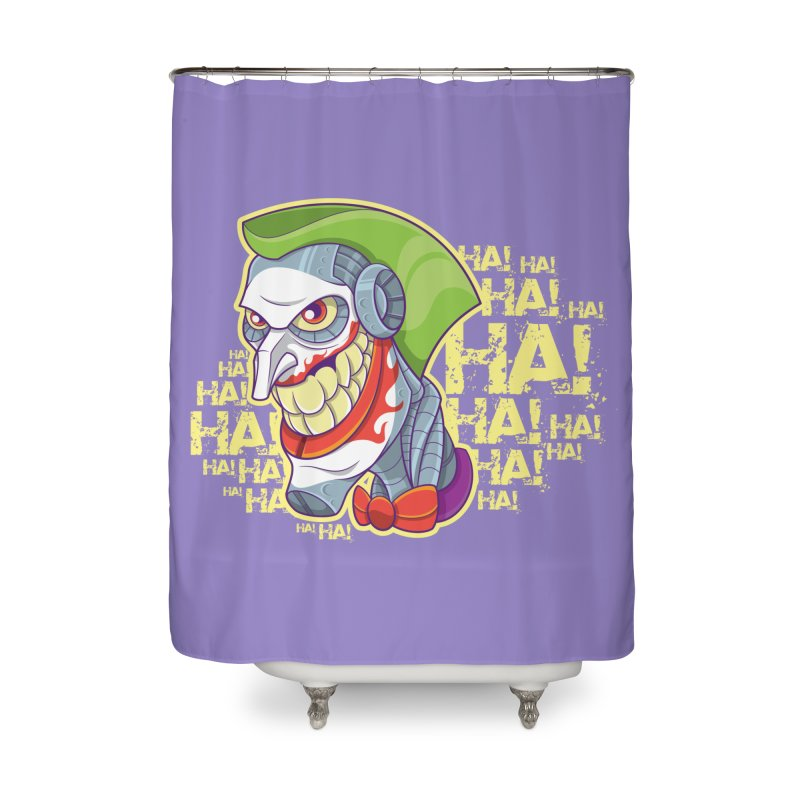 Robot Joker Home Shower Curtain by leogoncalves's Artist Shop