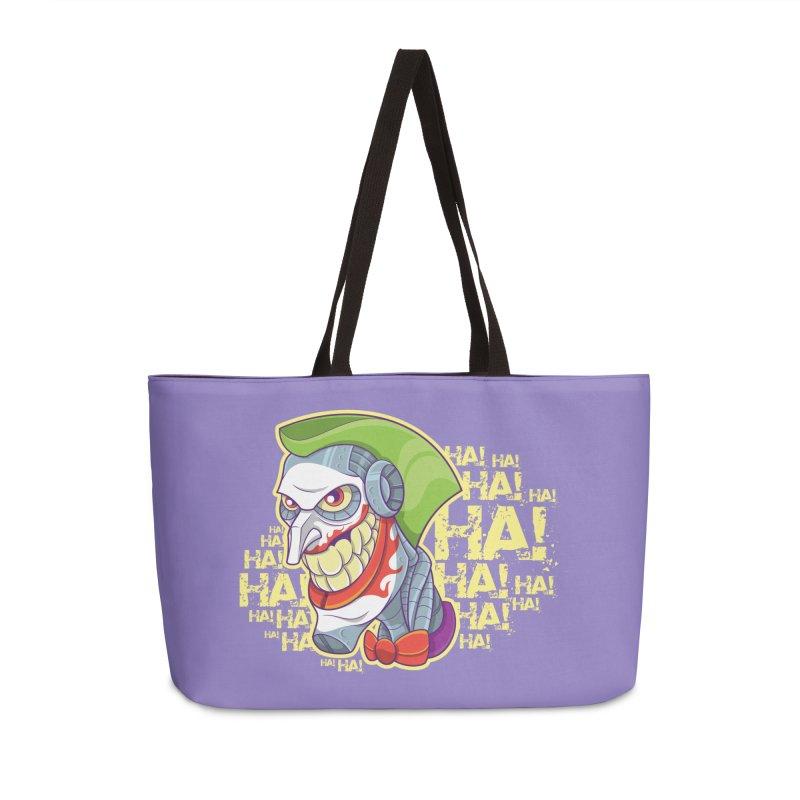 Robot Joker Accessories Weekender Bag Bag by leogoncalves's Artist Shop
