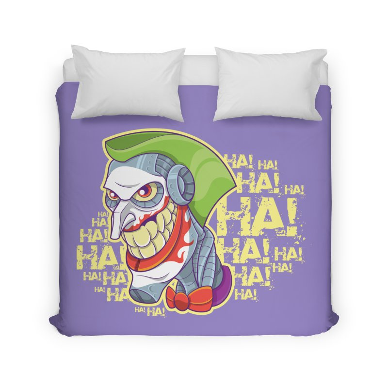 Robot Joker Home Duvet by leogoncalves's Artist Shop