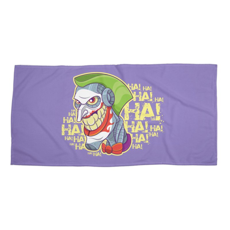 Robot Joker Accessories Beach Towel by leogoncalves's Artist Shop