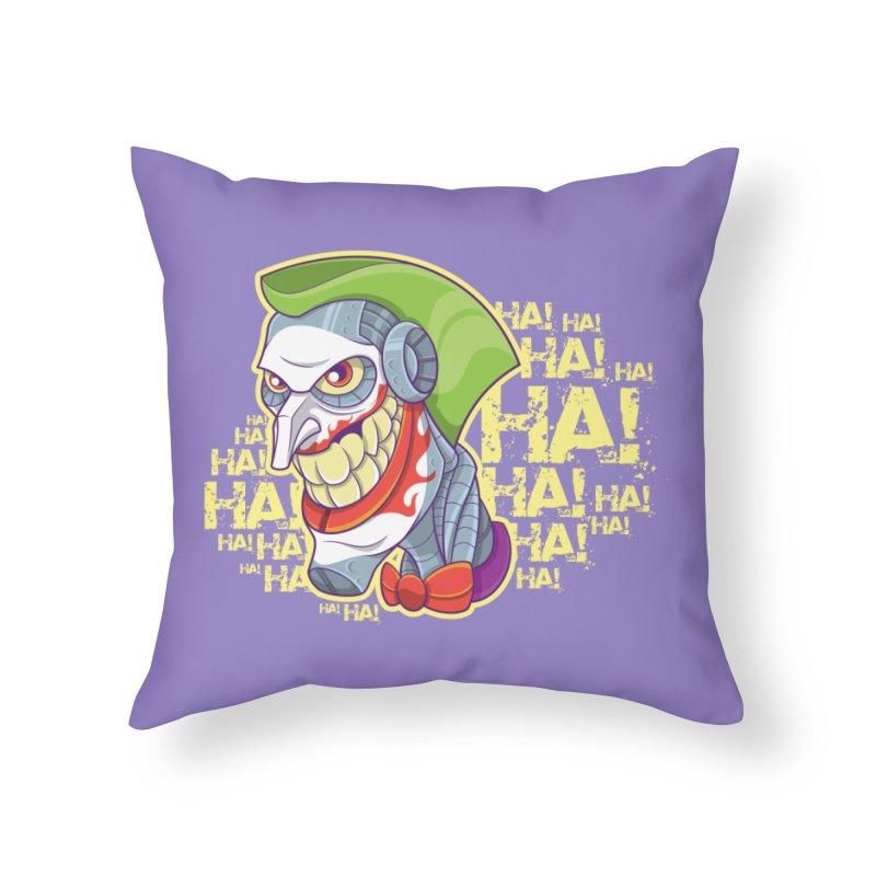 Robot Joker Home Throw Pillow by leogoncalves's Artist Shop