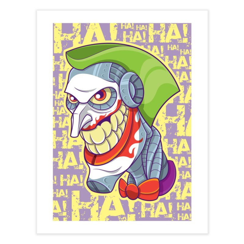 Robot Joker Home Fine Art Print by leogoncalves's Artist Shop