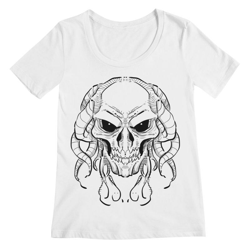 Skull Tentacles Women's Regular Scoop Neck by leogoncalves's Artist Shop