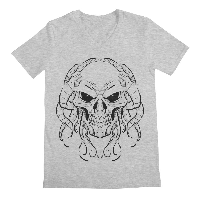 Skull Tentacles Men's Regular V-Neck by leogoncalves's Artist Shop