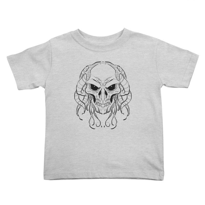 Skull Tentacles Kids Toddler T-Shirt by leogoncalves's Artist Shop