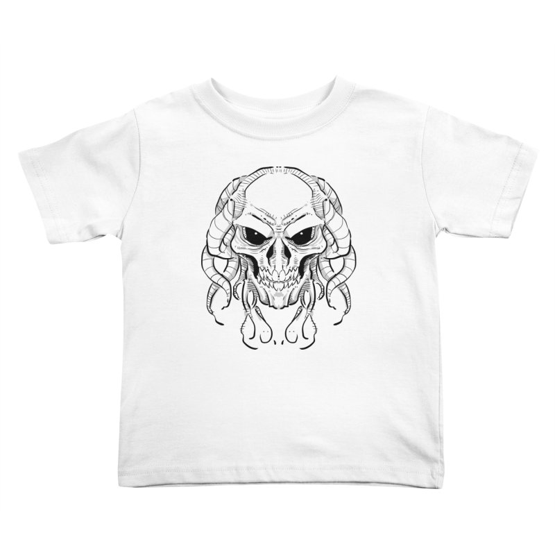 Skull Tentacles Kids Toddler T-Shirt by leogoncalves's Artist Shop