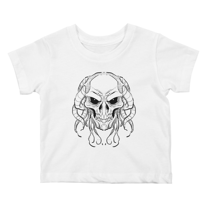 Skull Tentacles Kids Baby T-Shirt by leogoncalves's Artist Shop