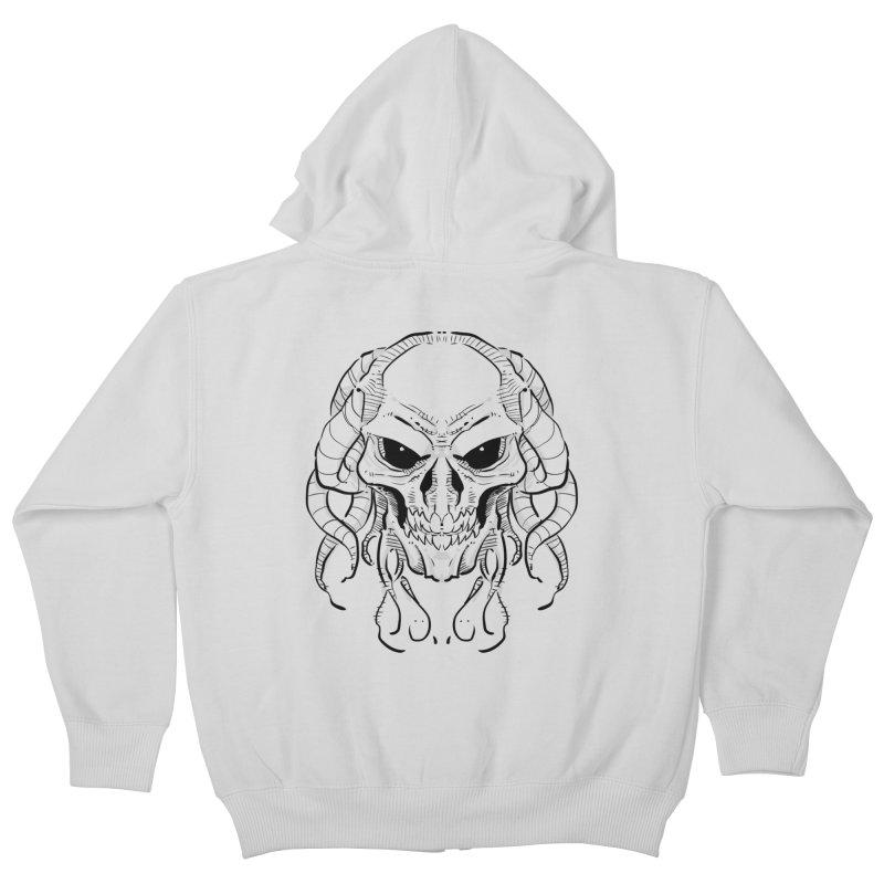 Skull Tentacles Kids Zip-Up Hoody by leogoncalves's Artist Shop