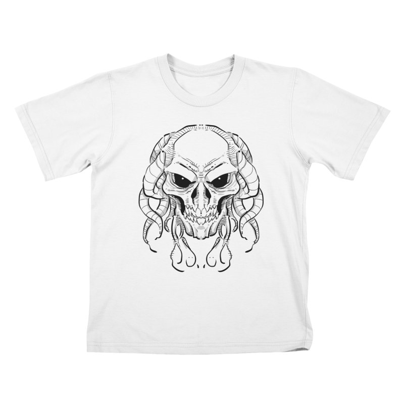 Skull Tentacles Kids T-Shirt by leogoncalves's Artist Shop