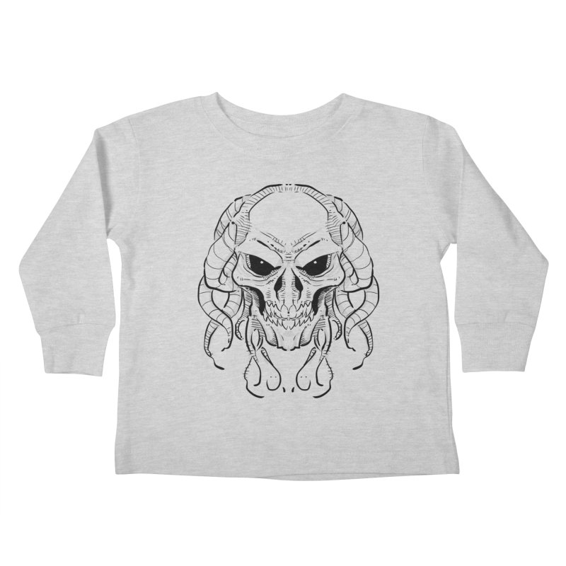 Skull Tentacles Kids Toddler Longsleeve T-Shirt by leogoncalves's Artist Shop