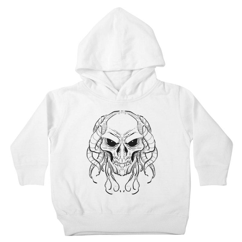 Skull Tentacles Kids Toddler Pullover Hoody by leogoncalves's Artist Shop