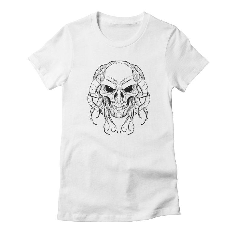 Skull Tentacles Women's T-Shirt by leogoncalves's Artist Shop