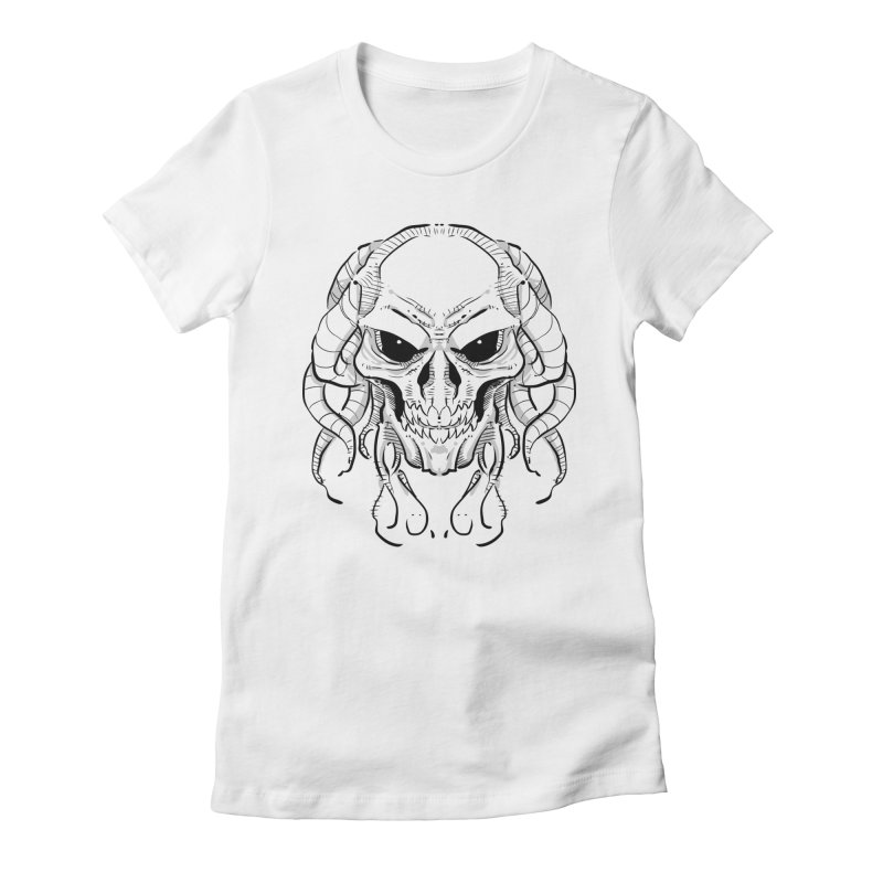 Skull Tentacles Women's T-Shirt by leogoncalves's Artist Shop
