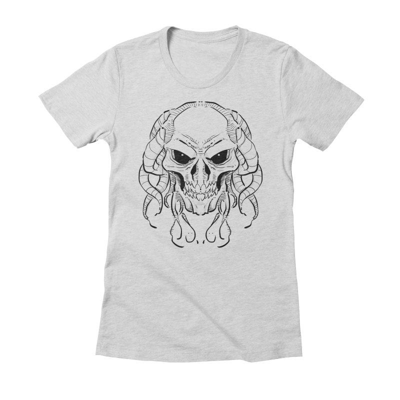Skull Tentacles Women's Fitted T-Shirt by leogoncalves's Artist Shop