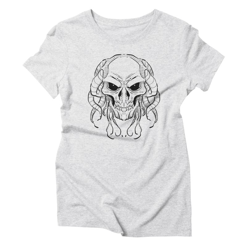 Skull Tentacles Women's Triblend T-Shirt by leogoncalves's Artist Shop