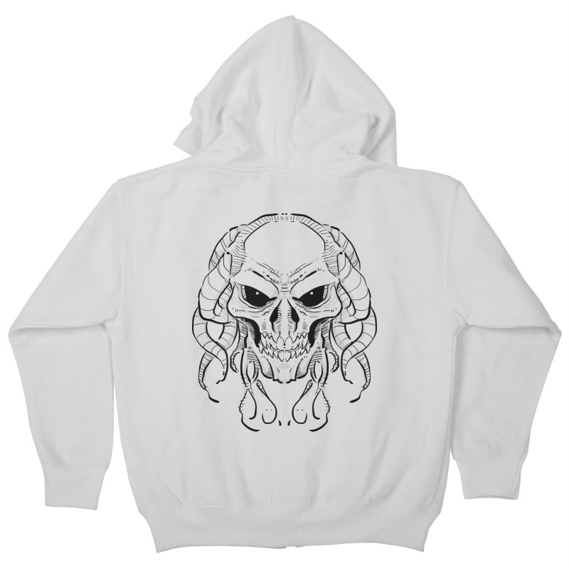 Skull Tentacles Kids Zip-Up Hoody by leogoncalves's Artist Shop