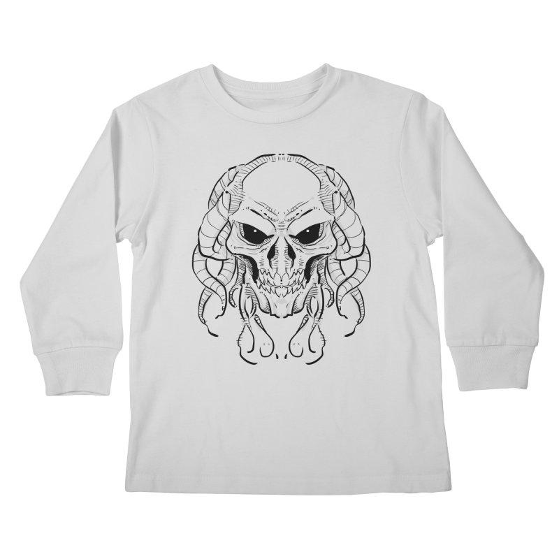 Skull Tentacles Kids Longsleeve T-Shirt by leogoncalves's Artist Shop