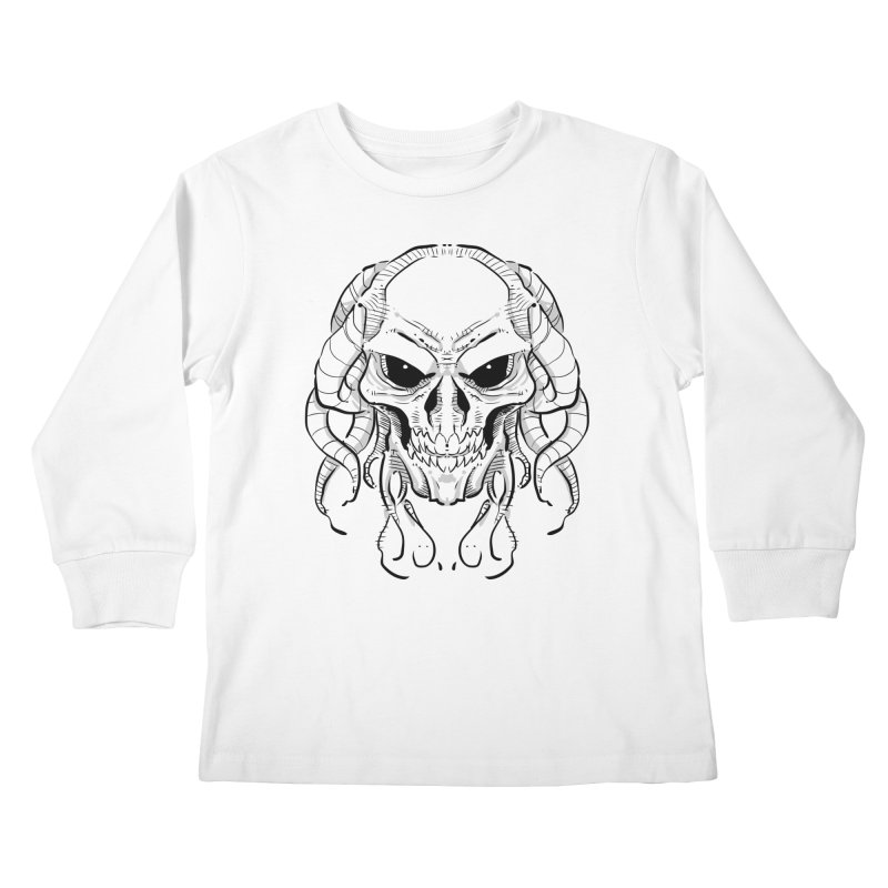 Skull Tentacles Kids Longsleeve T-Shirt by leogoncalves's Artist Shop