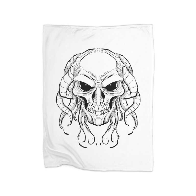 Skull Tentacles Home Fleece Blanket Blanket by leogoncalves's Artist Shop
