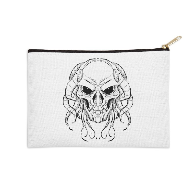 Skull Tentacles Accessories Zip Pouch by leogoncalves's Artist Shop