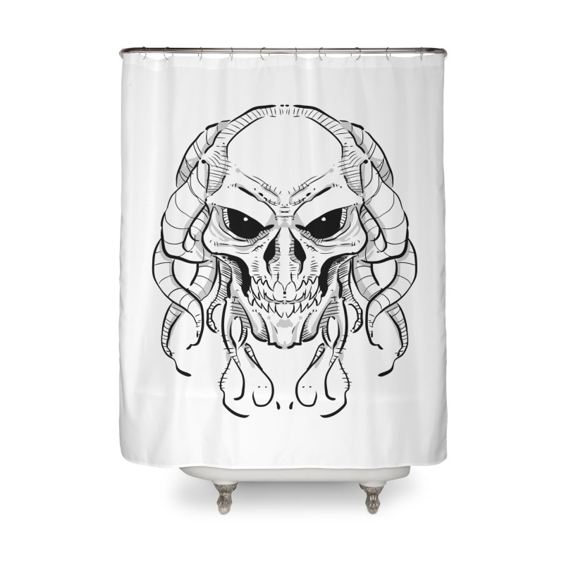 Skull Tentacles Home Shower Curtain by leogoncalves's Artist Shop