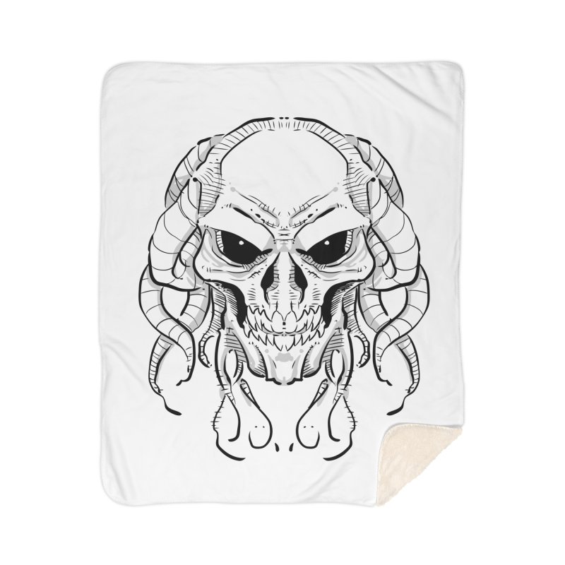 Skull Tentacles Home Sherpa Blanket Blanket by leogoncalves's Artist Shop