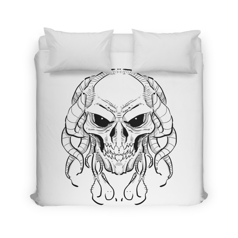 Skull Tentacles Home Duvet by leogoncalves's Artist Shop