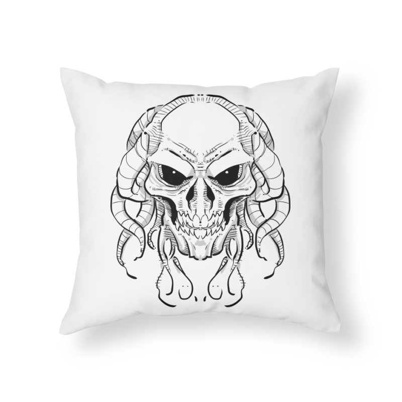 Skull Tentacles Home Throw Pillow by leogoncalves's Artist Shop