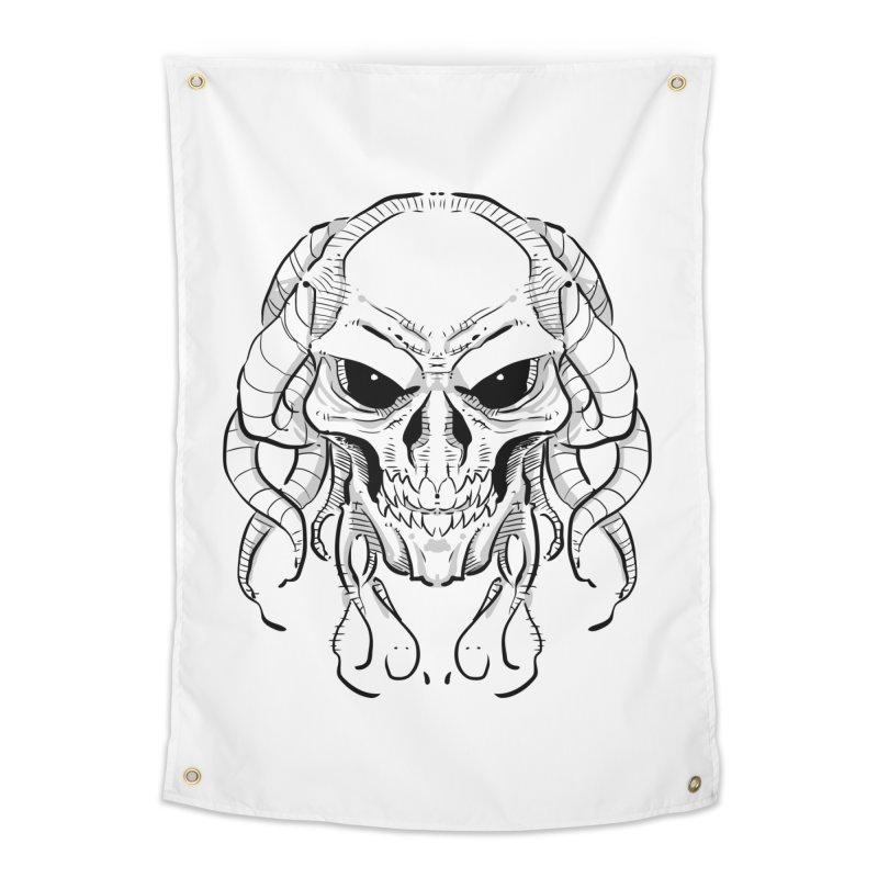 Skull Tentacles Home Tapestry by leogoncalves's Artist Shop