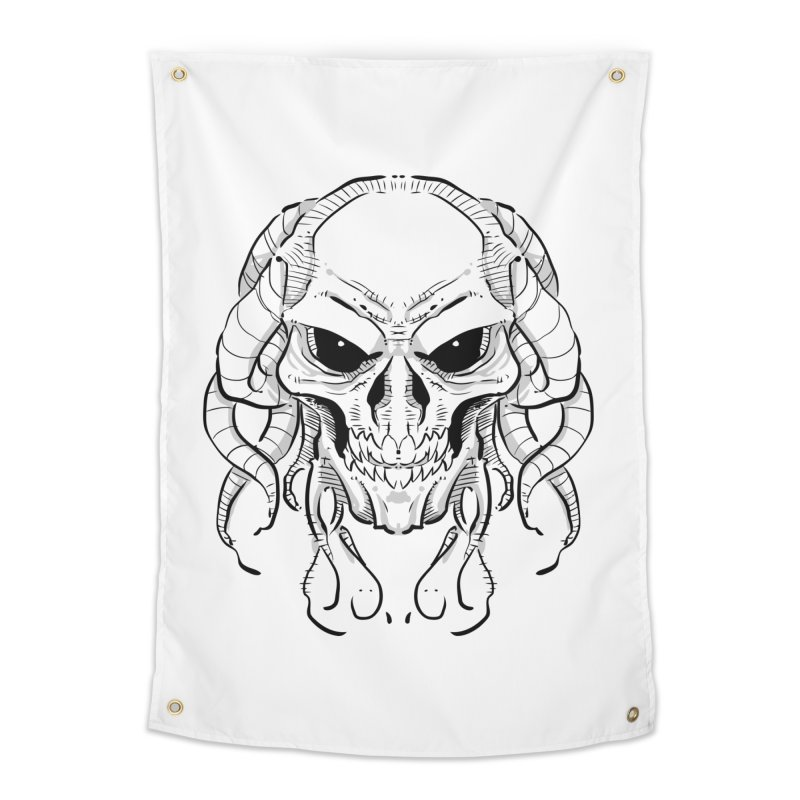 Skull Tentacles Home Tapestry by leogoncalves's Artist Shop