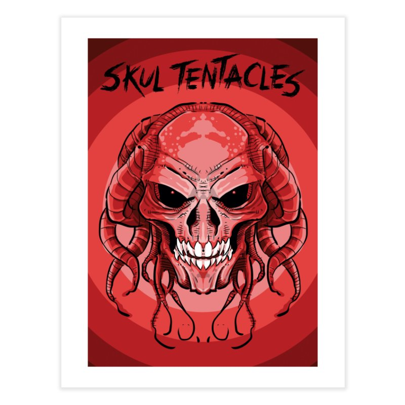 Skull Tentacles Home Fine Art Print by leogoncalves's Artist Shop