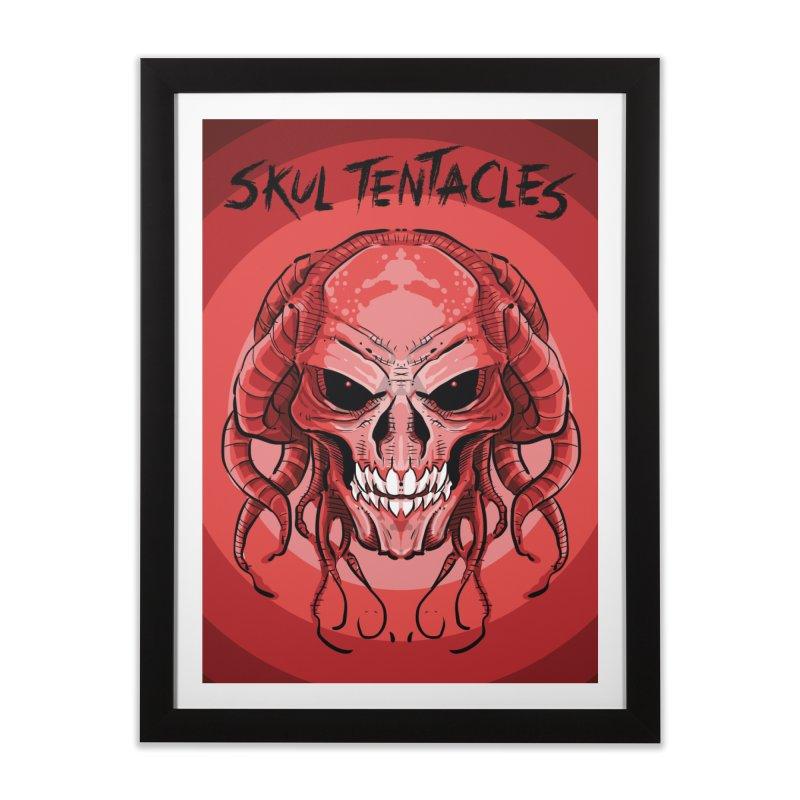 Skull Tentacles Home Framed Fine Art Print by leogoncalves's Artist Shop